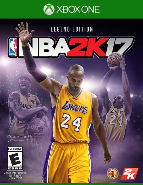 NBA 2k17 Legend Edition Microsoft Xbox 1 Rated E Kobe Bryant Cover