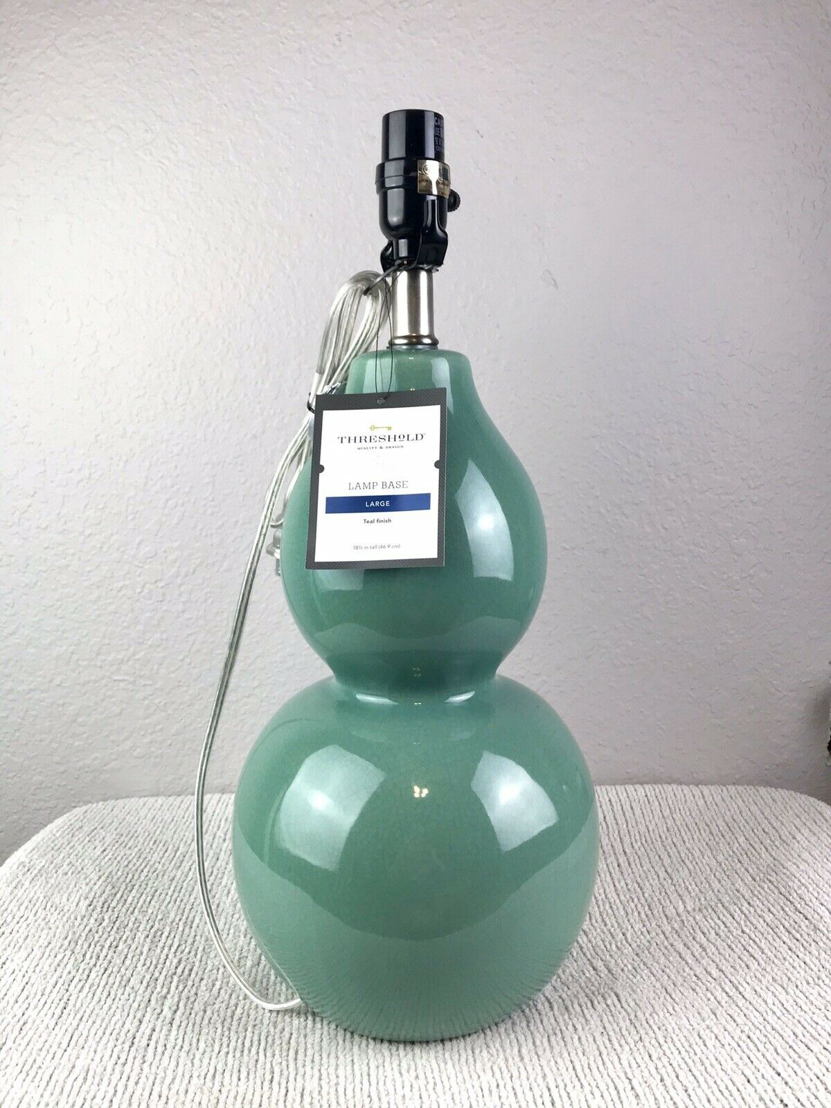 Threshold Large Double Gourd Lamp Base Ancient Aqua For Sale Online Ebay