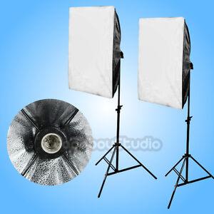 Studio-E27-50x70cm-Folding-Easy-Softbox-Light-Stand-Continuous-Lighting-Kit-NEW