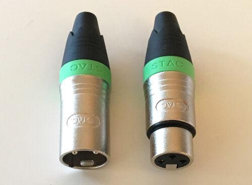 Kabelklett 3m Mikrofon Kabel XLR DMX Kabel OFC-Kupfer  2 Stück je 3m lang inkl