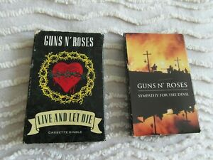GUNS N' ROSES LIVE AND LET DIE + SYMPATHY FOR THE DEVIL CASSETTE SINGLES