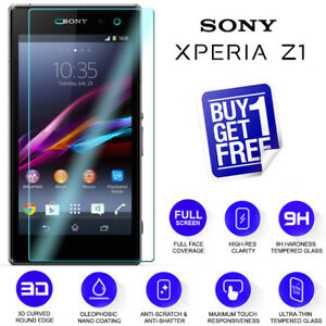 2 x For Sony Xperia Z1 Tempered Glass Screen Protector Film Premium Clear C6903