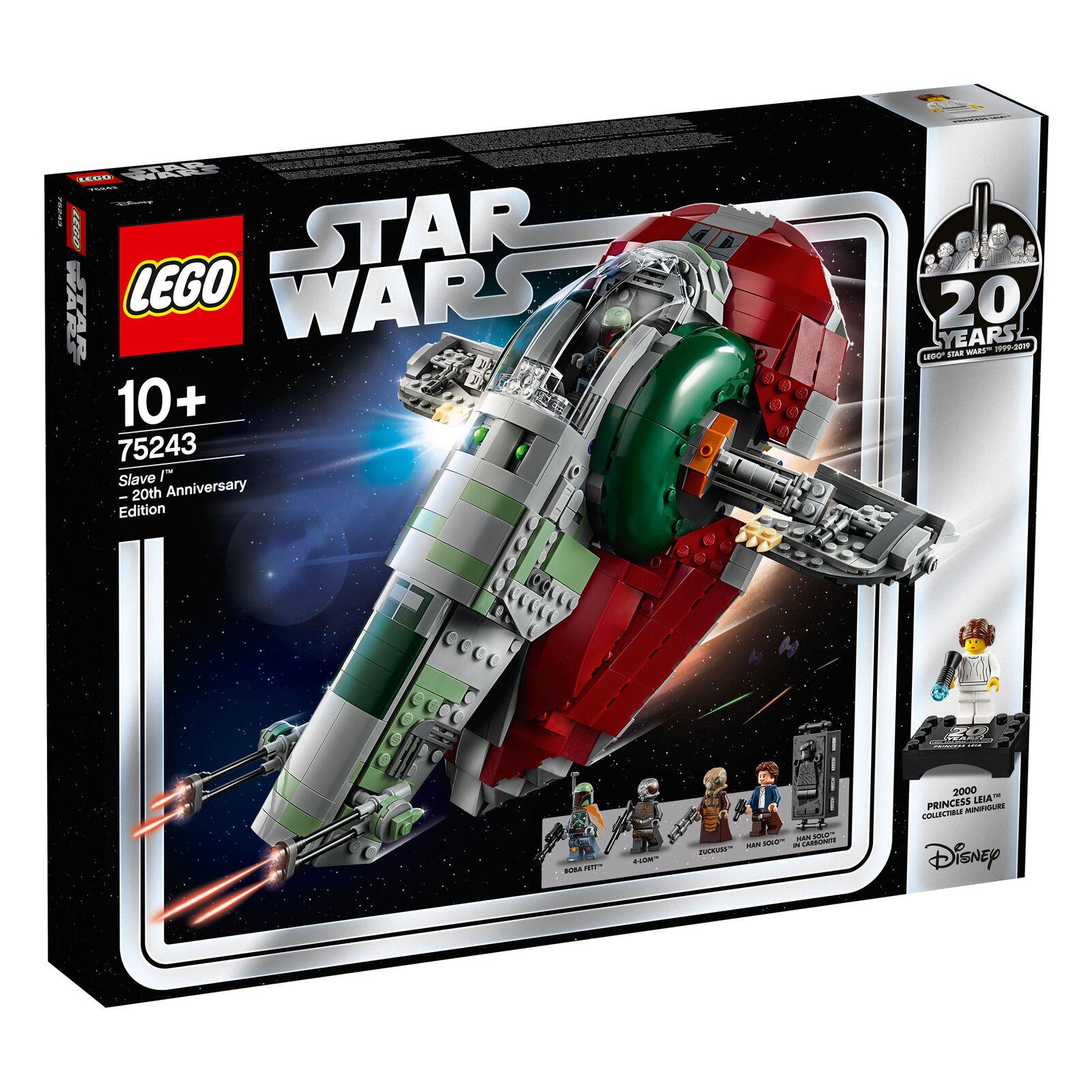 75243 Lego Guerra de las galaxias esclavo L - 20th Edición de aniversario 1007 piezas 10+ años