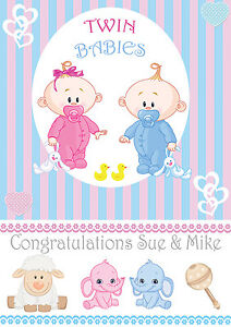 Its Baby Twins Birth Of Twins Boy Amp Girl Banner