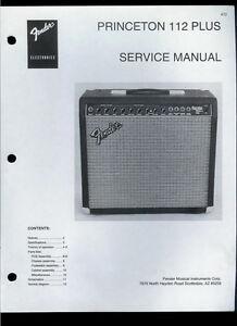 Copy Fender Princeton 112 Plus Guitar Amplifier Parts List ...