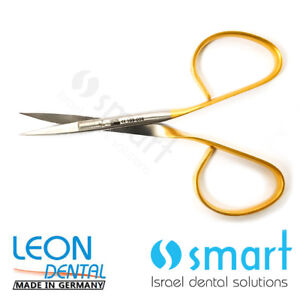 Details about Dental micro surgery surgical Scissors tungsten carbide  Germany Curved 109-006