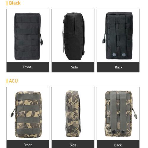 Sports Military 600D 21X11.5CM MOLLE Utility Tactical Vest Waist Pouch