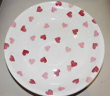 "emma bridgewater PINK HEARTS   MED PASTA BOWL 9""   NEW"