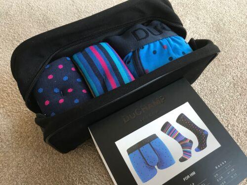 /& 1 X BOXER SHORTS BNWT SIZE M DUCHAMP WASH BAG GIFT SET 2 X SOCKS UK 7-11