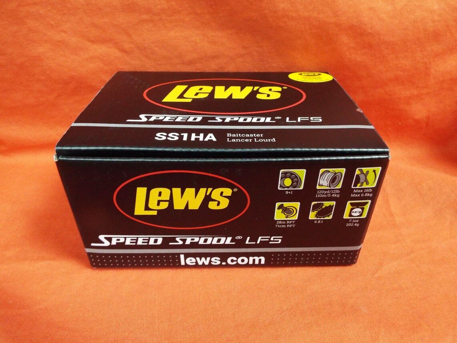 Lew's Velocidad Cocherete LFS serie Baitcasting Reel Gear proporción de 6.8  1 SS1HA