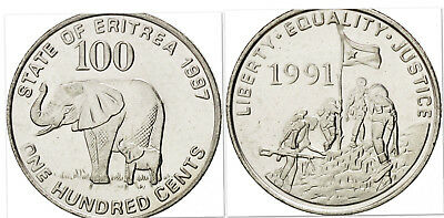 KM43 Eritrea 1997 1 Cent Uncirculated