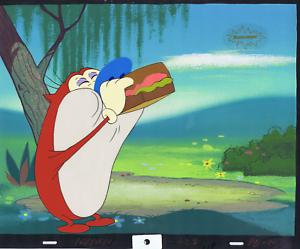 Ren & Stimpy Original 1990 Animation Art Production Cel Nickelodeon Sandwich