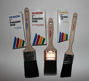 variety lot of 3 duron paint brushes 2 gold king 2