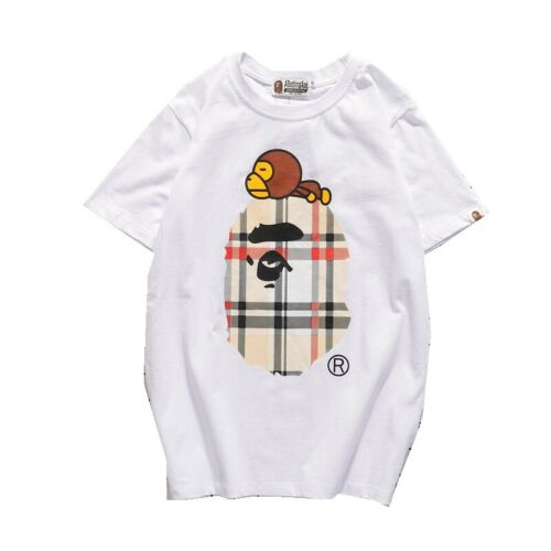 NEW APE Head A Bathing Ape BAPE Cartoon Camo Round Collar Short Sleeves T-Shirts
