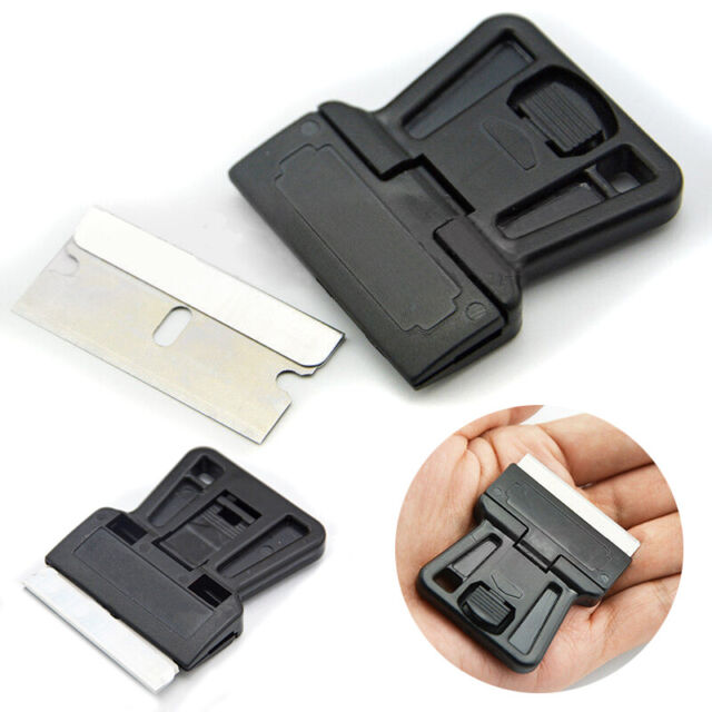 2 Packs 8pcs Mini Razor Blade Razor Scraper Holder Handle Standard DIY Crafts X2