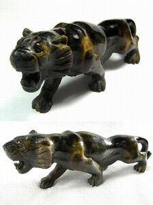 Antique-Handcarved-Golden-Tiger-Eye-Gemstone-034-Stalking-Tiger-034-18th-C-India
