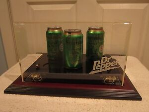 Caseworks, Dr. Pepper Soda Can Display Case, Gold Risers, Limited Edition