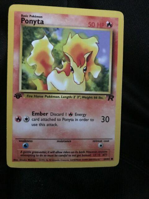 Ponyta Pokemon Card Team Rocket Set
