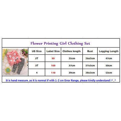 2PCS Cute Newborn Kids Baby Girl T-shirt Tops+Long Pants Tracksuit Outfits Set