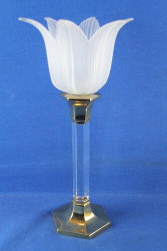 Partylite Kerzenhalter Leuchter Votiv Lucite mit Glasaufsatz Tulpe 27 cm hoch