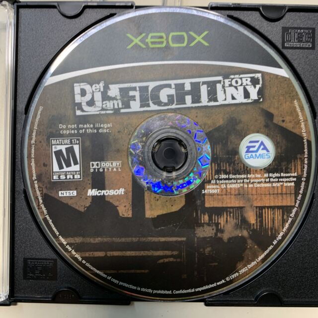 Def Jam Fight for NY (Microsoft Xbox) Disc Only Tested Working with Flaws Read!