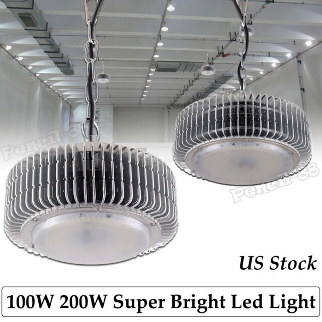 1x 200W LED High Bay Lamp Commercial Warehouse Industrial Factory Shed Lighting