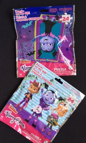 24 Piece Jigsaw Puzzles Age 5+ Disney Junior VAMPIRINA And FRIENDS Set//2-NEW