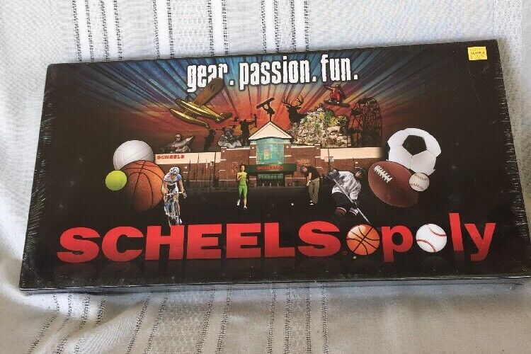 Scheelsopoly by Scheels Speciality  Monopoly Type Board Trading Trading Trading Game New Sealed 2ad06b