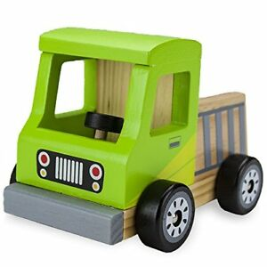 Wooden-Wheels-Chunky-Toy-Pickup-Truck-Work-Truck-Construction-Vehicle