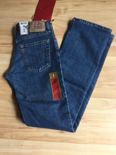 Dame W27 Strauss L32 Levi 599 Fit Jeans Slim Lyseblå Nwt Vintage zPq4YY