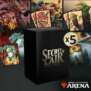 MTG Arena Secret Lair 5x full Summer Bundle Sleeves CODE ONLY MTGA