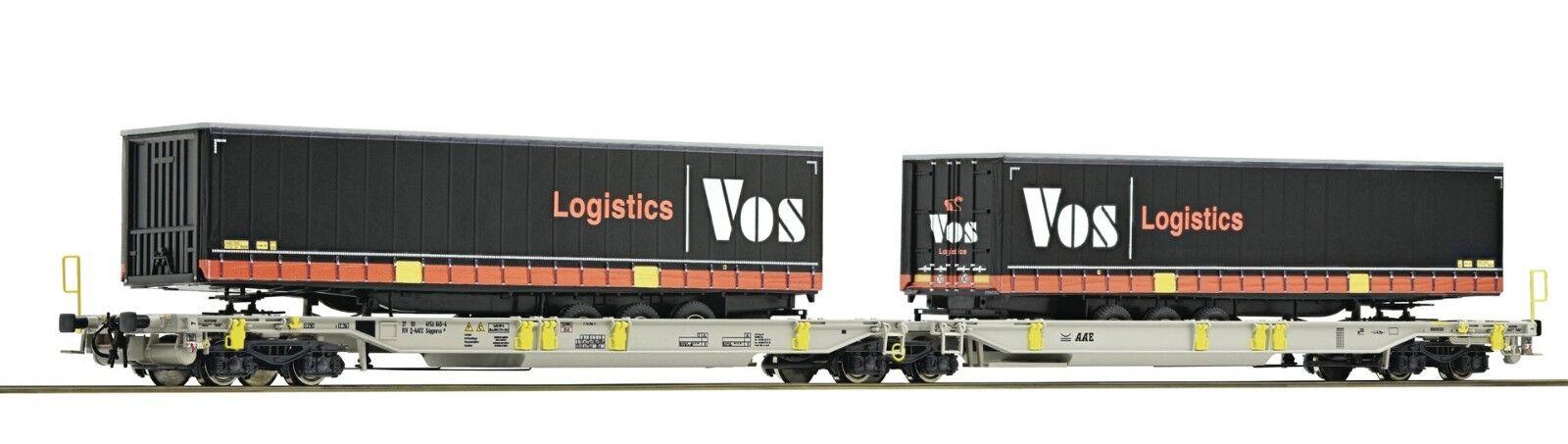 Roco 76417, h0 doppetragwagen t2000, vos logostik, nuevo, embalaje original