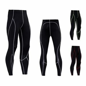 e813efac8f6c4 Image is loading Men-Compression-Base-Layer-Tights-Running-Workout-Sports-