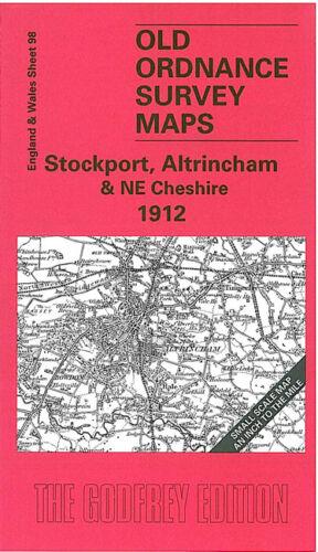 OLD ORDNANCE SURVEY MAP STOCKPORT ALTRINCHAM NE CHESHIRE 1912 CHEADLE LYMM