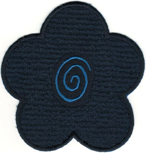 """4/"""" Blue Flower Chenille Embroidery Patch"""