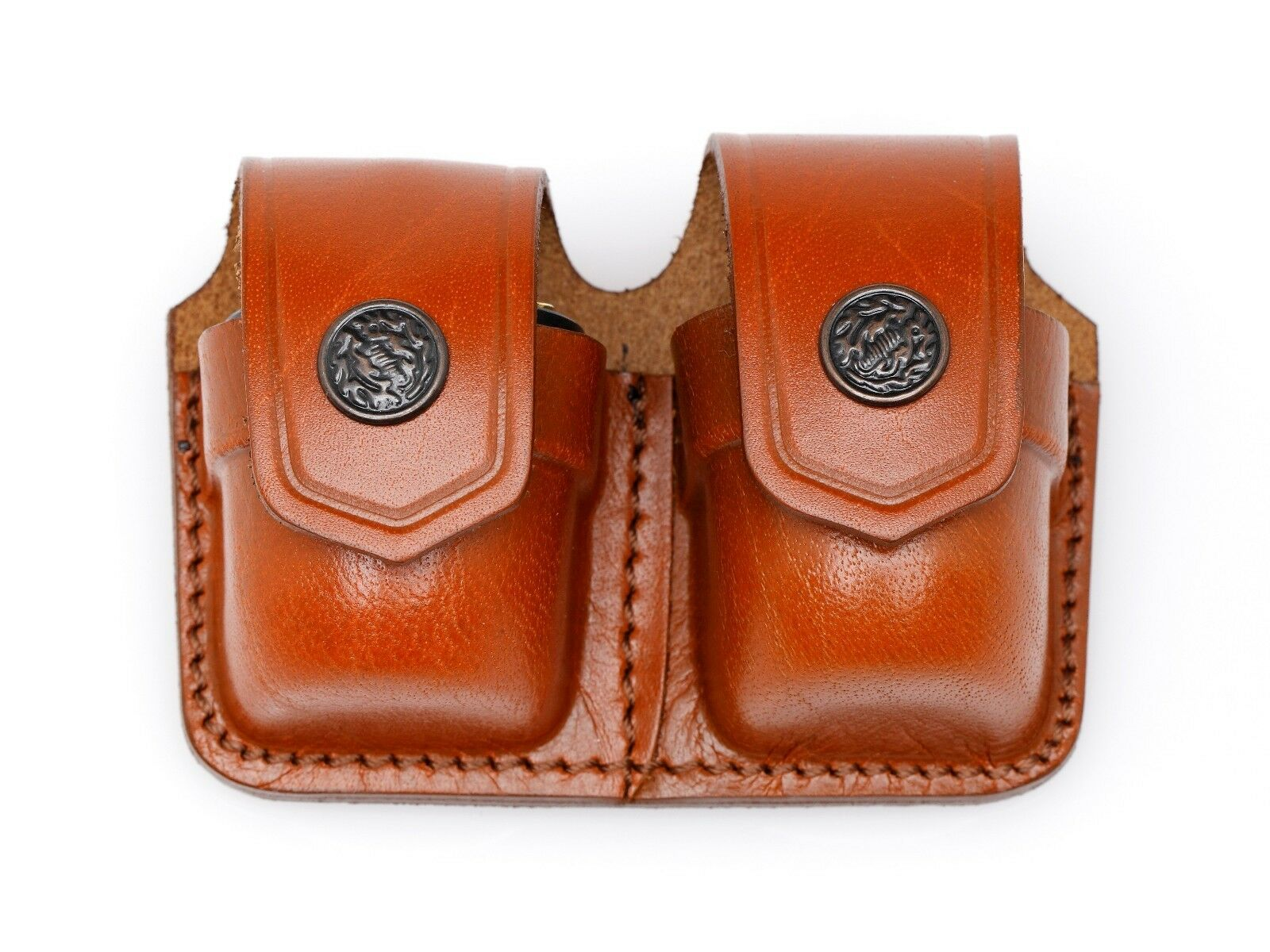 Leather Double Speed Loader Case - () - QUANTITY OF 10