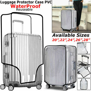Waterproof-Transparent-Protective-Luggage-Suitcase-Cover-Case-Travel-Universal