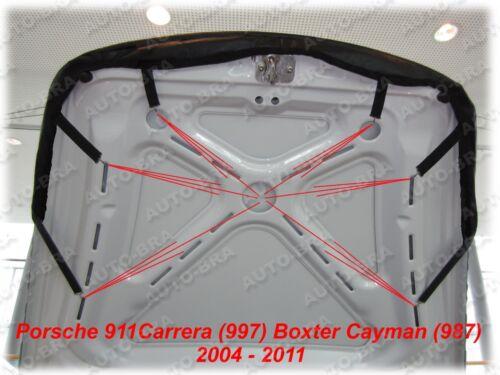 Bonnet BRA Porsche Boxster Cayman 987 04-11 Steinschlagschutz Haubenbra Tuning