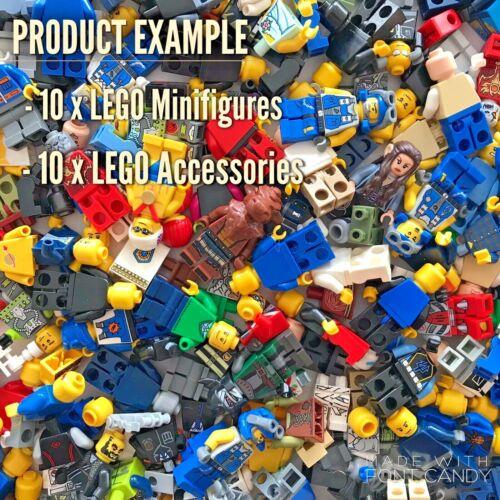 accessoires-Lego Minifigures Job Lot Bundle Set 10 x Mixte Lego Minifigures