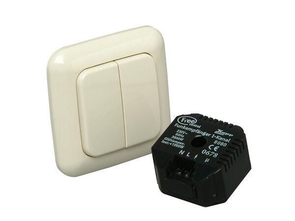 Free control Funk-Set für Rolladen- und Serienschalter (Standard)  mit 2 4 Funkt | Erste Qualität