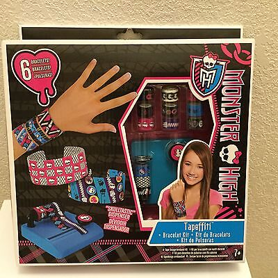 Crafts Monster High Fashion Angels Tapeffiti Bracelet Kit New