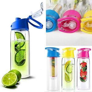 800 Ml Frutas Infusor Infundiendo Botella Agua Deportes