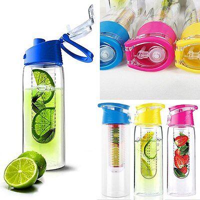 800ML Fruit Infusing Infuser Water Sports Health Lemon Juice Bottle Flip Lid