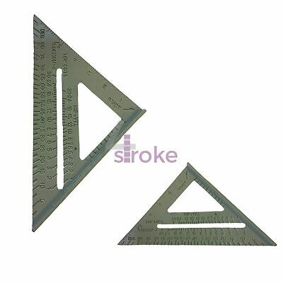 "6/"" Aluminium Alloy Roofing Rafter Speed Square Triangle Angle Guide Joinery Roof"