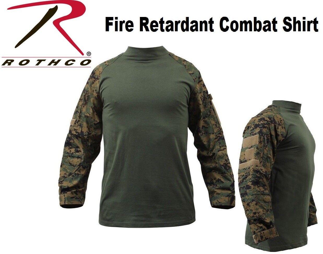 USMC Woodland Digital Camo Fire Retard Lightweight Tactical Combat Shirt 90005