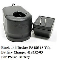 NEW Black and Decker PS185 18 Volt Battery Charger 418352-03 For PS145 Battery