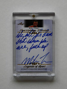 2012-LEAF-INSCRIPTIONS-MIKE-TYSON-SUPER-RARE-AUTO-AUTOGRAPH-HANGOVER-QUOTE