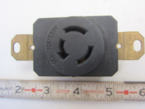 20A 125//250V Hubbell 7310 Style Locking Receptacle Non-NEMA Used