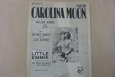songsheet CAROLINA MOON, Little Emmie, 1928
