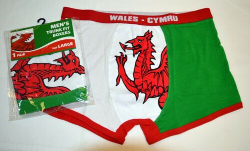 Size XSMALL Welsh Dragon design Trunk Fit BOXER SHORTS Wales// Cymru